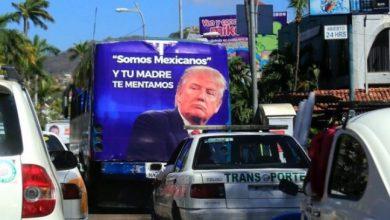 Photo of Retiran autobuses con mentadas de madre a Trump