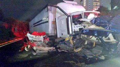 Photo of (Video) Mujer que conducía camión de EASO embiste a autos, se calculan 9 muertos