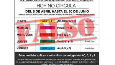 Photo of Cuidado! Circulan en redes información falsa del Hoy no circula