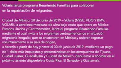 Photo of Volaris ofrece vuelos de regreso a migrantes por 1 Dollar