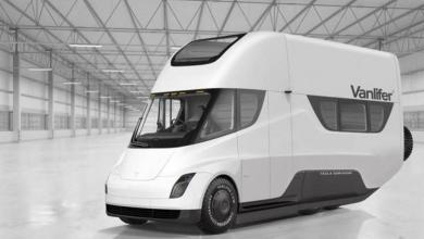 """Photo of Proyectan una Van """"camper"""" a partir de un Tesla Semi"""