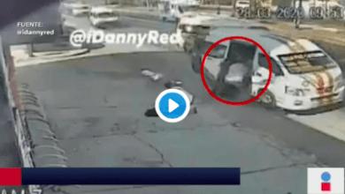 Photo of (Video) Se avientan de Combi para evitar asalto
