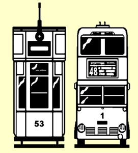 Out with the old in with the new, Tram 53 Trolleybus 1