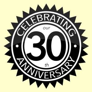 30th year anniversary logo