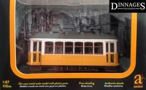 Lisbon HO model tram in yellow by Amarellis