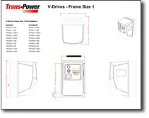 Trans-Power V-Drives Line Drawings