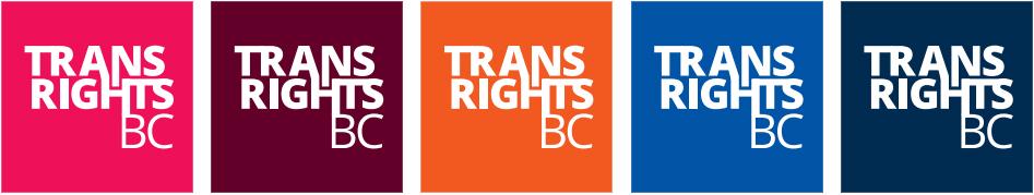 Trans Rights BC Logos