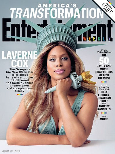 Laverne Cox on the cover of Entertainment Weekly