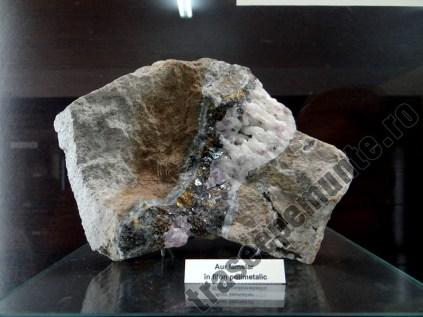 Aur lamelar in filon polimetalic