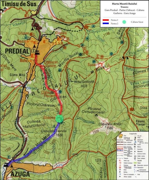 Harta Muntii Baiului_Creasta Clabucet