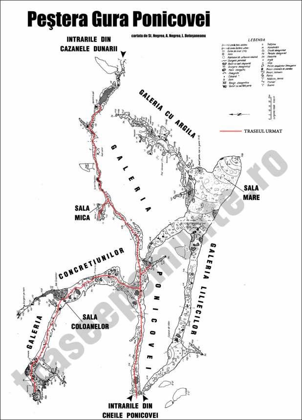 harta pestera gura ponicove