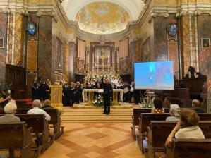 foto concerto inaugurale con partecipazione polifonica pievese