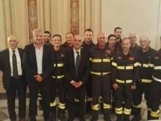 Città della Pieve, sottosegretario Bocci visita distaccamento Vigili del Fuoco