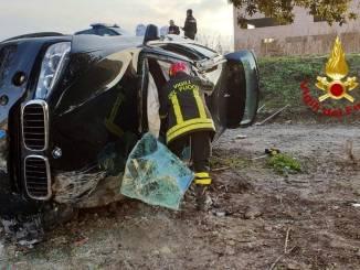 Incidente a Magione, suv fuori strada, ferito conducente