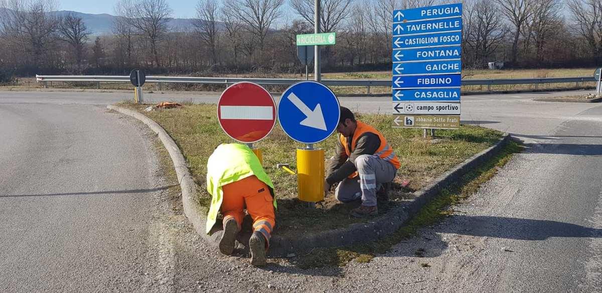 Piegaro, strade, cominciata la sostituzione di oltre 200 segnali