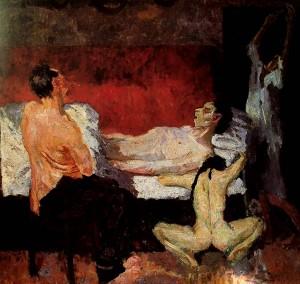 Gran escena de la muerte, Max Beckmann, 1906