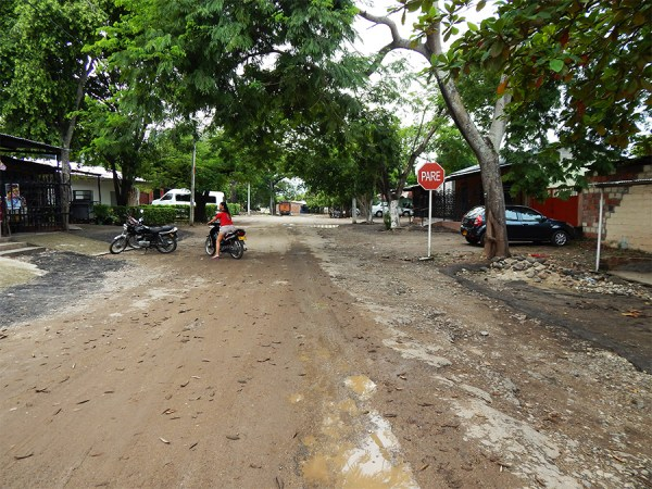 Así lucen las calles de Guacirco, corregimiento de Neiva (Fotografía: Federico Ramírez)