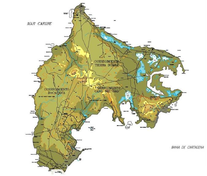 12. Mapa de la isla
