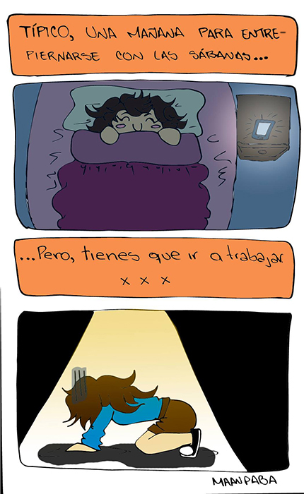 Las sábanas - María Patiño