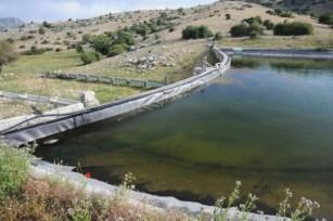 Uno de los estanques artificiales donde la rana de Mallorca Alytes muletensis reside.