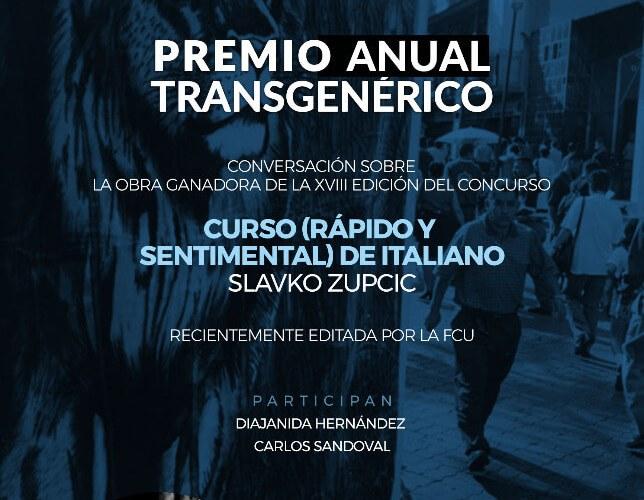 Premio Anual Transgénerico co Fundación para la Cultura Urbana