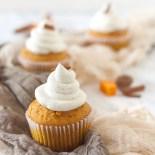 Cupcakes alla zucca con cream cheese (frosting alla crema di formaggio)
