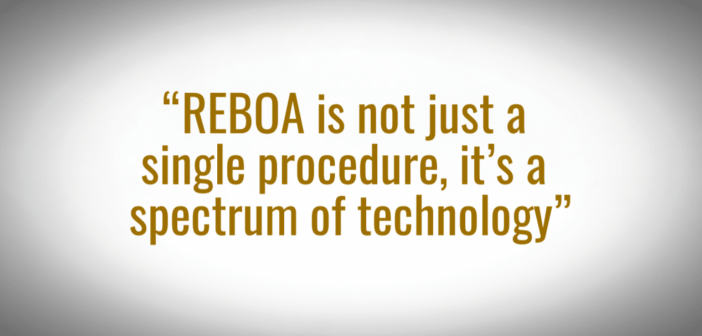 "Maine trauma team: ""REBOA is not just a single procedure, it's a spectrum of technology"""
