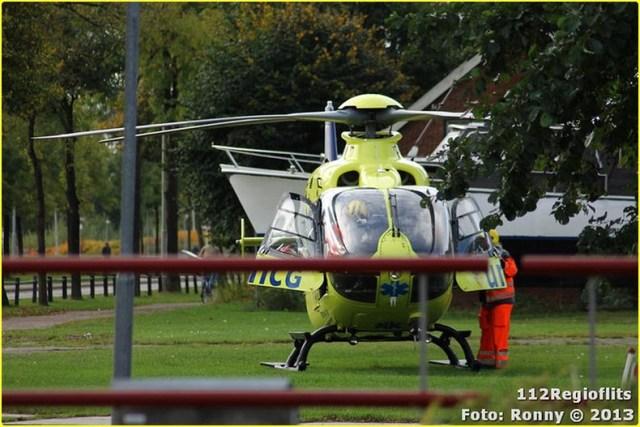 025_Bromfietsbestuurder ernstig gewond Buinerweg 18-10-13-BorderMaker