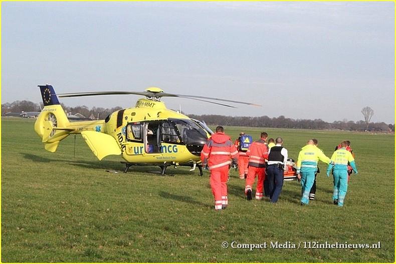 112 Vrouw ernstig gewond N855 Dwingeloo 11-BorderMaker