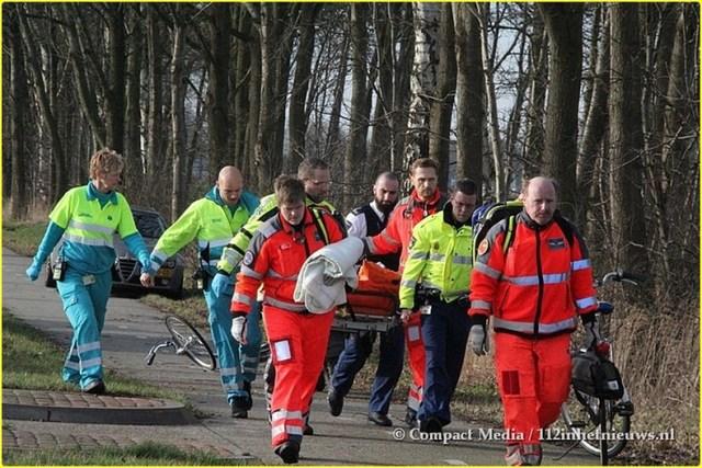 112 Vrouw ernstig gewond N855 Dwingeloo 9-BorderMaker