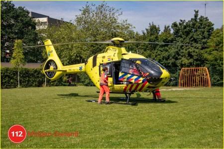 Traumahelikopter voor medische noodsituatie...