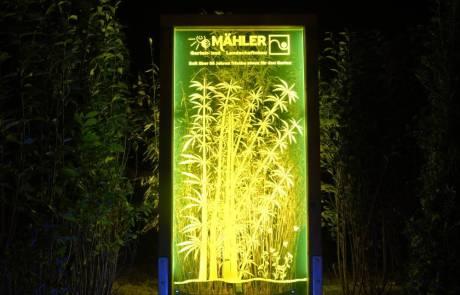 Acrylglas mit Kantenbeleuchtung für den Außenbereich