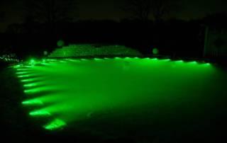 Teichbeleuchtung mit Lichtleitfaser