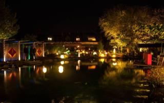 Gartenbeleuchtung im Schaugarten