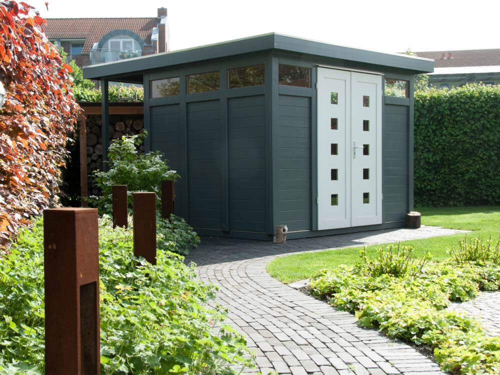 Das Gartenhaus im modern Style ein Jahr nach Fertigstellung des Garten