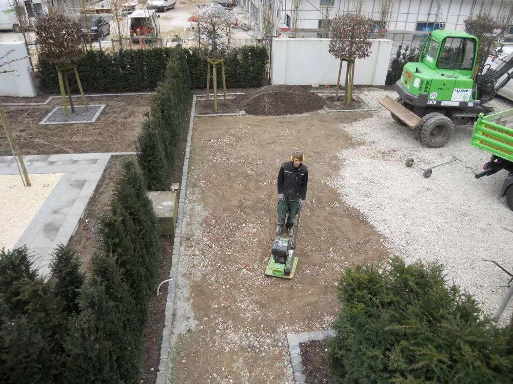 Die Herstellung von Platzflächen