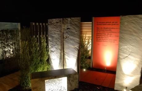 Schiefersteelen mit LED Beleuchtung
