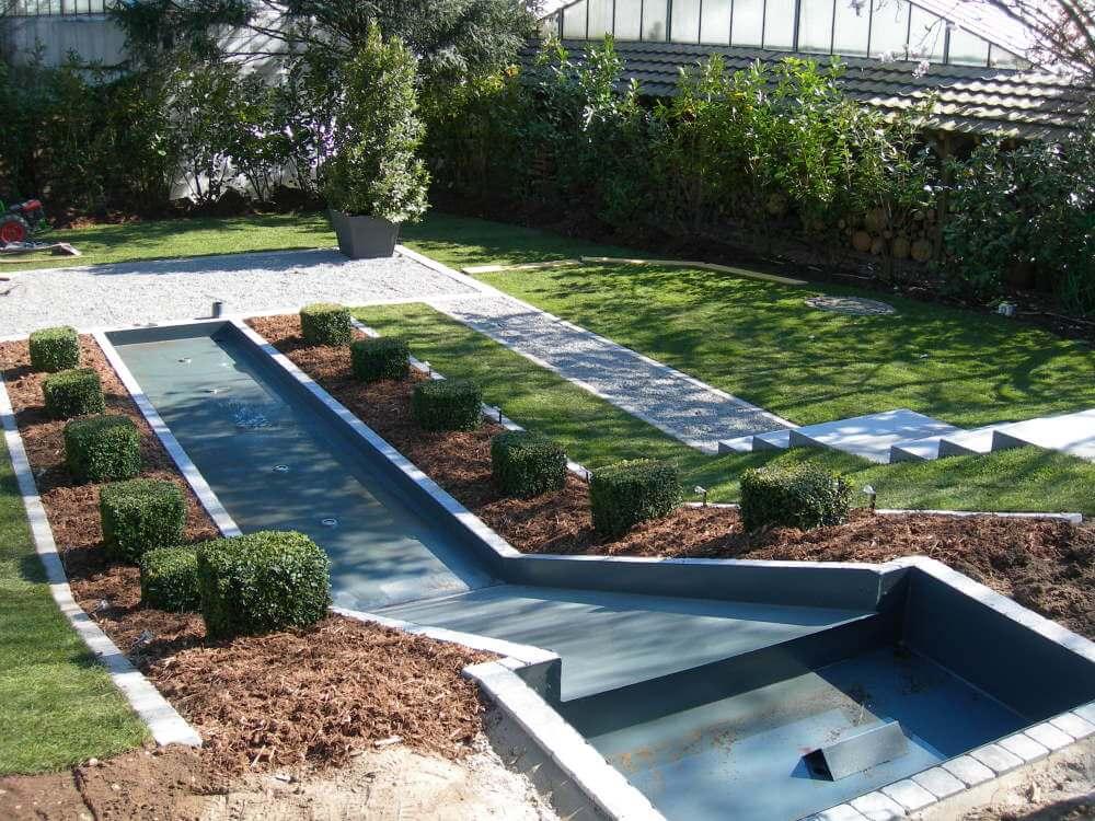 Wasserrutsche Garten
