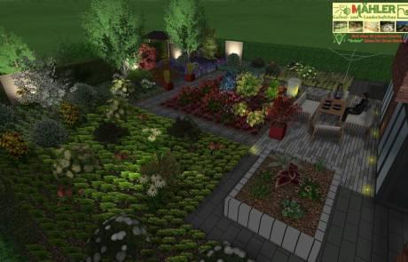 3D Garten Beleuchtung