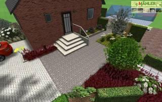Beispielplanung neuer Hauseingang