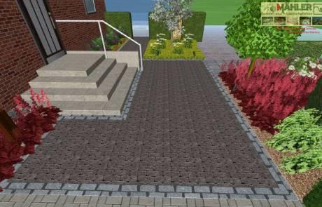 3D Gartenplan Hauseingang