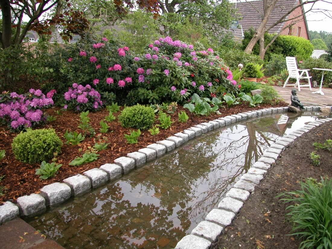 bachlauf im garten – igelscout, Gartenarbeit ideen