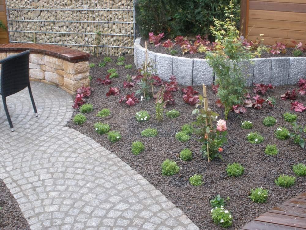 Die Bepflanzung des kleinen Garten