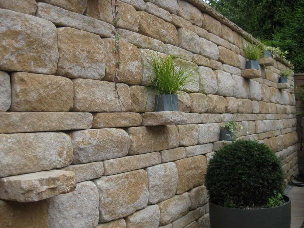 Gartenmauer mediterran