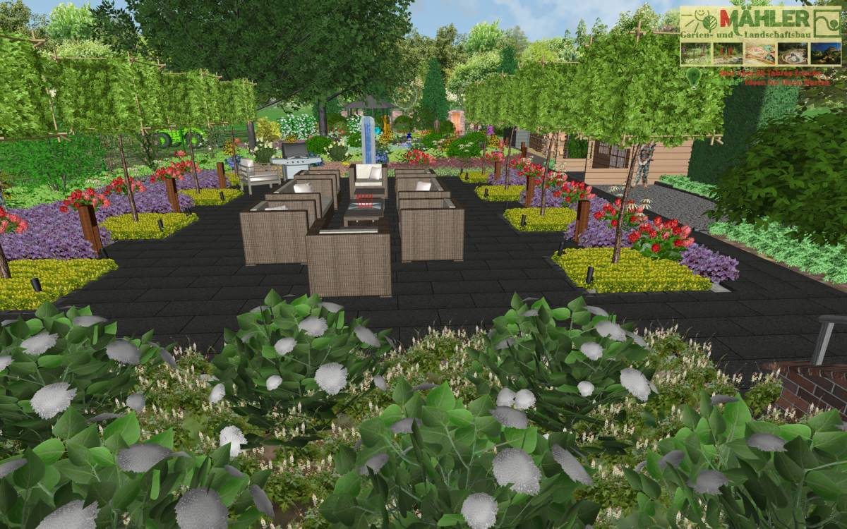 Planungsbeispiel 3D Garten