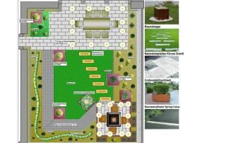 Gartenplanung einer Terrasse mit kleinem Hausgarten in Emmerich