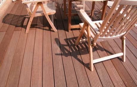 Hartholz Terrasse aus Bangkirei
