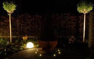 LED Strahler im Garten