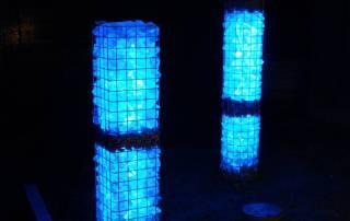 Leuchtgabionen