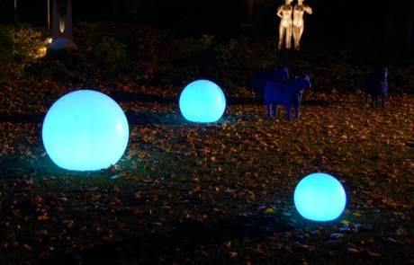 blaue Moonlight Lichtkugel